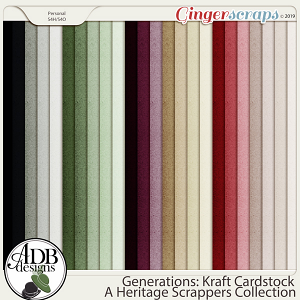 Generations Solid Papers by ADB Designs