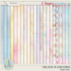 I Believe In Unicorns Paper Pack by Ilonka's Designs