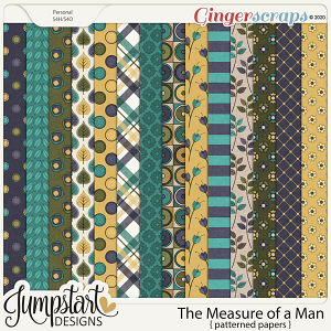 The Measure of a Man {Patterned Papers} by Jumpstart Designs