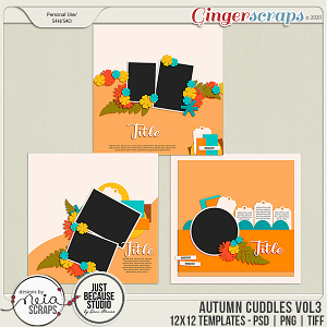 Autumn Cuddles - Templates VOL 3 - by Neia Scraps and JB Studio