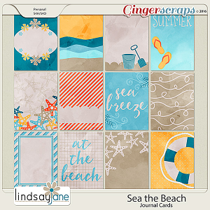 Sea the Beach Journal Cards by Lindsay Jane
