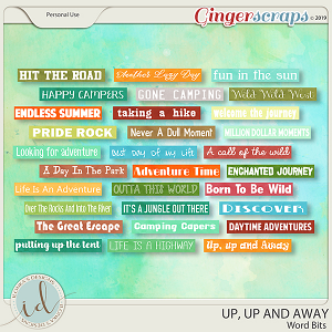 Up, Up And Away Word Bits by Ilonka's Designs