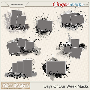 Days Of Our Week Photo Masks