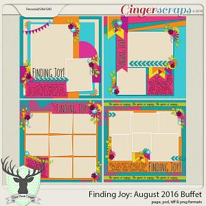 Finding Joy: August 2016 Buffet