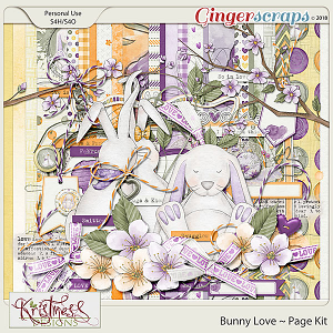 Bunny Love Page Kit