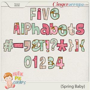 Spring Baby Alphabets