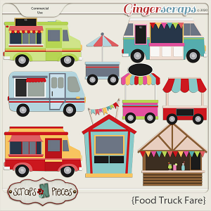 Food Truck Fare CU Layered Templates 1 - Scraps N Pieces