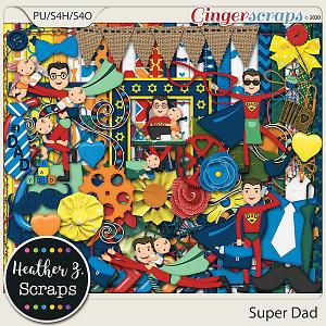 Super Dad KIT by Heather Z Scraps