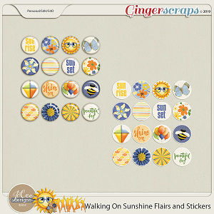 Walking On Sunshine Flairs and Stickers by JoCee Designs