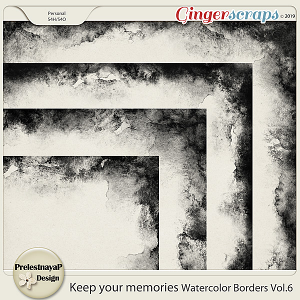 Keep your memories Watercolor Borders Vol.6