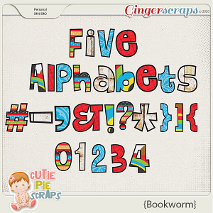 Bookworm Alphabets By Cutie Pie Scraps