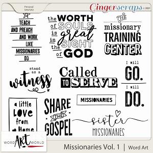 Missionary Work Vol. 1 Word Art
