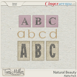 Natural Beauty Alpha Pack by Tami Miller Designs