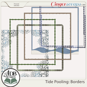 Tide Pooling Page Borders by ADB Designs