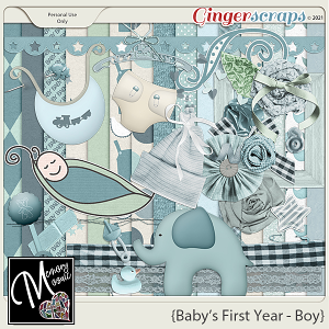 Baby's First Year - Boy by Memory Mosaic
