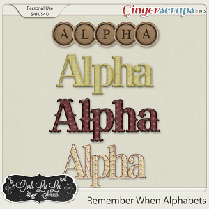 Remember When Alphabets