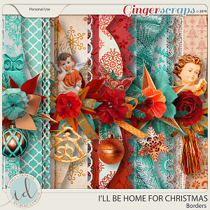 I'll Be Home For Christmas Borders by Ilonka's Designs