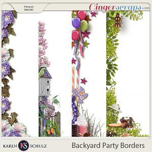 Backyard Party Borders by Karen Schulz