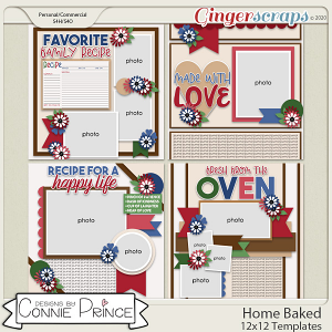 Home Baked - 12x12 Templates (CU Ok) by Connie Prince