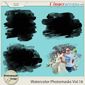 Watercolor photomasks Vol.16