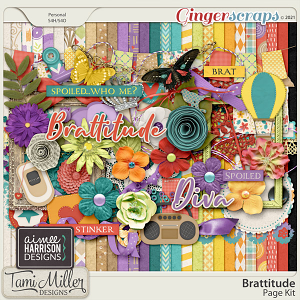 Brattitude Page Kit by Aimee Harrison and Tami Miller