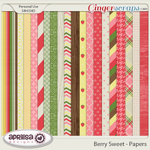 Berry Sweet - Papers by Aprilisa Designs