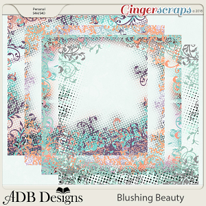 Blushing Beauty Page Borders