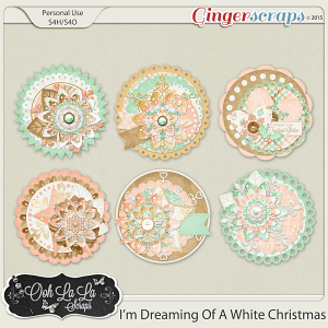 I'm Dreaming Of A White Christmas Cluster Seals
