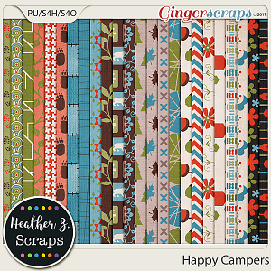 Happy Campers PAPERS by Heather Z Scraps