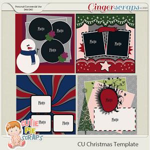 Christmas -Templates -12x12 (CU Ok) by Cutie Pie Scraps