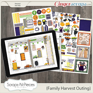 Family Harvest Outing Planner Pieces by Scraps N Pieces