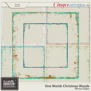 Christmas Woods Messy Edges by Aimee Harrison
