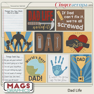 Dad Life JOURNAL CARDS by MagsGraphics