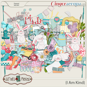 I Am Kind Embellishments by Scraps N Pieces