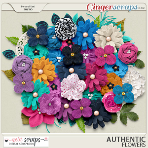 Authentic - Flowers - by Neia Scraps