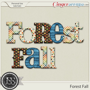 Forest Fall Alphabets