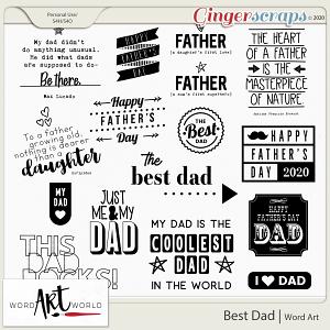Best Dad Word Art