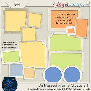 Distressed Frame Clusters 1 by Miss Fish
