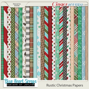 Rustic Christmas Paper Pack