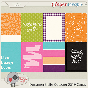 Document Life October 2019 Journal Cards by Luv Ewe Designs