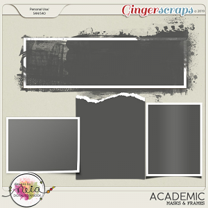Academic - Masks & Frames - by Neia Scraps