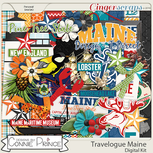 Travelogue Maine - Kit by Connie Prince