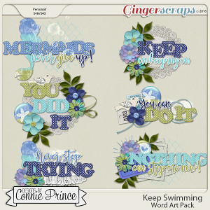 Keep Swimming - Word Art Pack