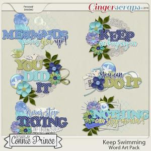 Keep Swimming - Word Art Pack