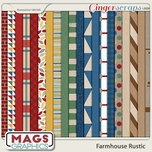 Farmhouse Rustic PAPERS by MagsGraphics