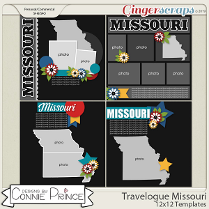 Travelogue Missouri - 12x12 Temps (CU Ok) by Connie Prince