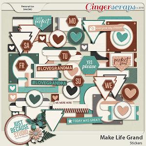 Make Life Grand Stickers by JB Studio