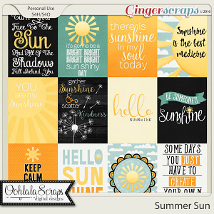 Summer Sun Journal or Pocket Scrapbooking Cards