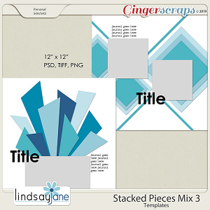 Stacked Pieces Mix 3 Templates by Lindsay Jane