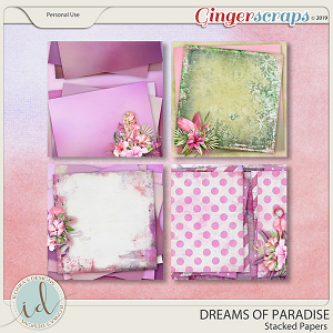 Dreams Of Paradise Stacked Papers by Ilonka's Designs